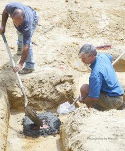 Nick helps Vernon secure the cornerstone