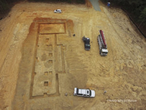 Aerial View of Footing Forms
