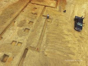 Surveyor Setup to Locate Cornerstone