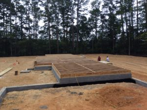 Completed Subfloor Framing
