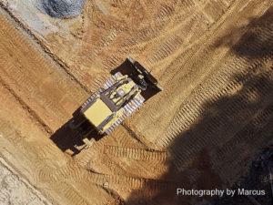Bulldozer Aerial View