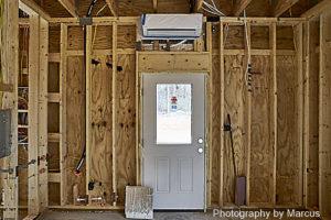 Workshop Minisplit above Entry Door