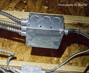 MC Cable Distribution Box in Crawlspace