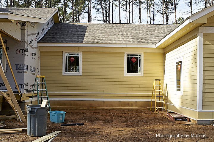Finished Siding Ready for Paint