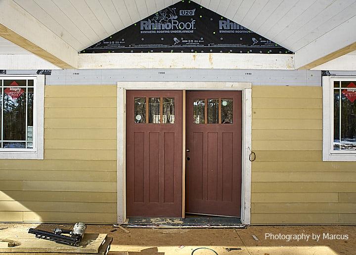 Front Door Trim in Progress
