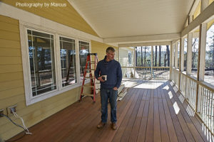 Vernon Inspects West Porch