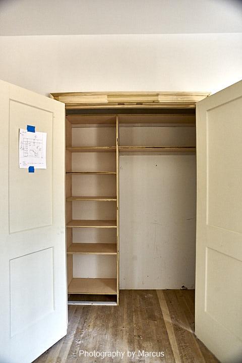 Guest Bedroom Closet Shelving in Progress