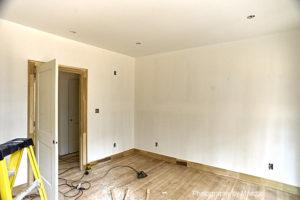 Office Baseboard and Door Casings