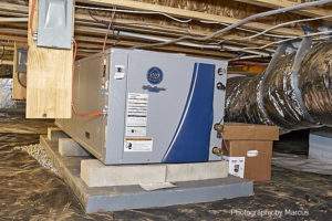 Geothermal Heat Pump Ready for Line Connections
