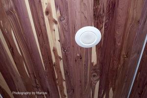 Cedar Closet with LED Light Trim
