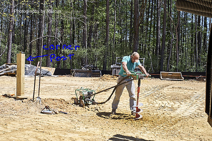 Nick Digs a Post Hole on April 20