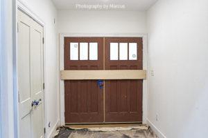 Front Door Awaiting Hardware