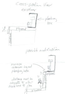 Diagram of Clothes Washer Connection